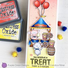 You Deserve a Treat – CandiCards Birthday Fun, Birthday Cards, Lawn Fawn Blog, Image List, Copic Markers, Digital Stamps, You Deserve, Peppermint, Carnival