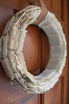Upcycled Book Page Wreath by LaVBoheme on Etsy, $45.00