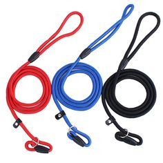 FopPet Durable Nylon Rope Dog Race Traction Rope Training P Snake Chain Pet Walking Outdoor Walk Pinch Collar Lead For Puppy