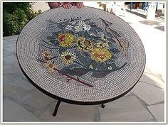 Round Mosaic Table