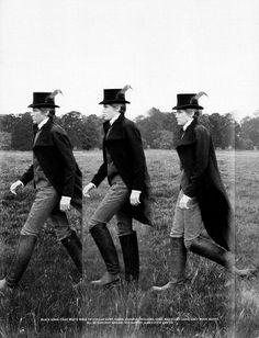 Boots, Hat, Coat.