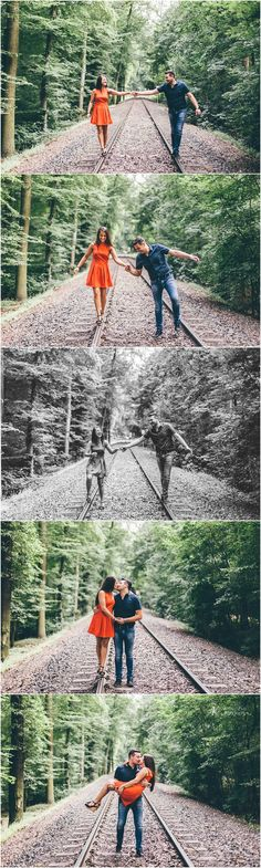 Get some inspiration for a funny Engagement Shooting. Poses you can use!    Carmela & Fabio | Paarshooting nähe Köln Dürener Str.