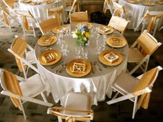 White And Gold Wedding Satin Linen Charger Plates Sashes On Resin Chairs With A Padded Seat