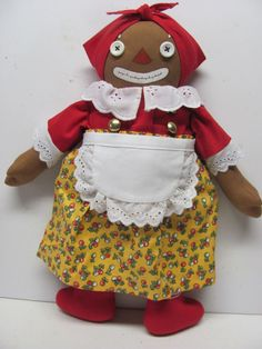 "Handmade Beloved Belindy, 15"" Raggedy Ann Character #BelovedBelindy #DollswithClothingAccessories"