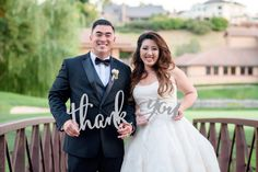 Thank You Sign Calligraphy Wedding Photo Props by ZCreateDesign