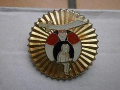 Pins insigne soleil levant sabre militaire japon