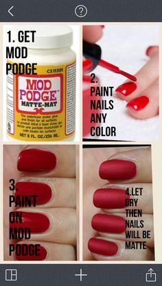 DIY matte nail polish