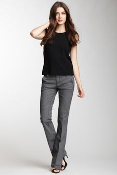 I love me some houndstooth! Straight Leg Houndstooth Pant @HauteLook