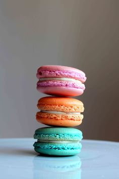 This recipe seems very helpful. It has tips to make the perfect macaron and a recipe with volume measurements rather than weight.