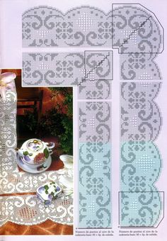 """Photo from album """"кайма крючком"""" on Yandex. Crochet Doily Diagram, Filet Crochet Charts, Crochet Doilies, Crochet Home, Knit Crochet, Hardanger Embroidery, Lace Making, Loom Patterns, Beautiful Crochet"""