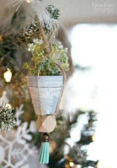 How to make beautiful nordic inspired Christmas ornaments quickly!
