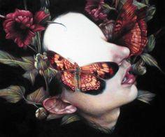 & Ldquo; Menade & rdquo;  2011, crayons de couleur sur papier, 25x30 cm