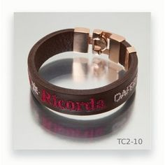 Ideas, Leather Bracers, Brown Leather, Hand Embroidery, Fashion Bracelets, Men's Leather, Rose Gold, Steel, Thoughts