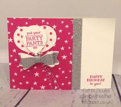 Stamp with Esther: Party Pants! Free from Stampin' Up! during Sale-a-Bration #GDP023