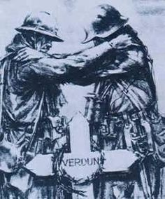 Battle of Verdun was the single longest battle of WW1. This image depicts a stand still to demonstrate the battle!