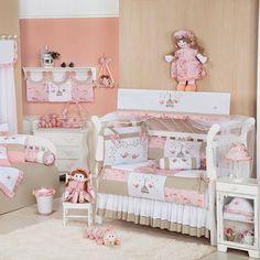 Resultado de imagem para  quarto de bebe rosa e cinza