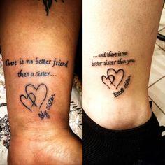 My second tattoo on the right... Sister tattoos <3 I love u Danielle!