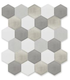 cement tiles can be mixed colors (in greens, if you want) or all one color
