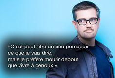 """Citation de Charb, le 19 septembre 2012 dans """"Le Monde"""". SIPA  #CharlieHebdo #jesuischarlie"""