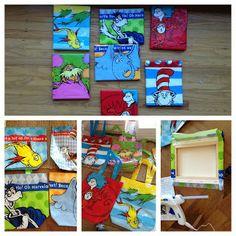 Assisting Descubrimiento: Dr. Seuss Classroom Art Work