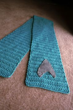 Crochet It Ain't So! • Star Trek Science Officer Scarf! The very first...
