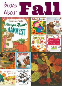 Children's Books About Fall!  Celebrate the season with a great collection of books about autumn.  Choices for babies, toddlers, preschoolers, and elementary aged children.  Reviews of each!