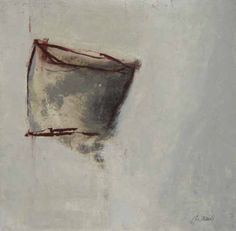 Martine Trouis: Abstract III (14x14 oil on paper)