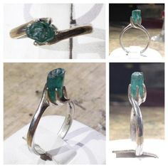 Anello d'argento con spettacolare Cristallo di Smeraldo grezzo da 2 carati circa http://on.fb.me/UI4iKp