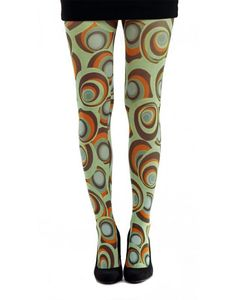 + Carnaby PAMELA MANN Retro 60s Printed Tights