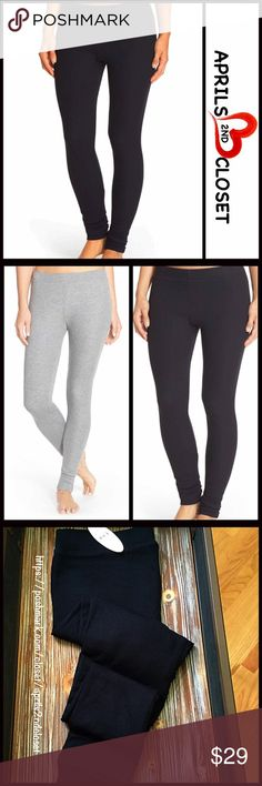 """LEGGINGS Ribbed Leggings Incredibly Soft 💟 NEW WITH TAGS 💟   LEGGINGS Ribbed Leggings * Incredibly comfortable  * Elasticized waistband and fitted leg * Super soft Knit construction * Approx. 10"""" rise & 30"""" inseam * Stretch-To-Fit Style  Fabric: Polyester, Combed Cotton & 25% viscose; Lingerie line, so perfect for layering in cool weather   Color: Black   Item:   🚫No Trades🚫 ✅ Offers Considered*✅  *Please use the blue 'offer' button to submit an offer Nordstrom Pants Leggings"""