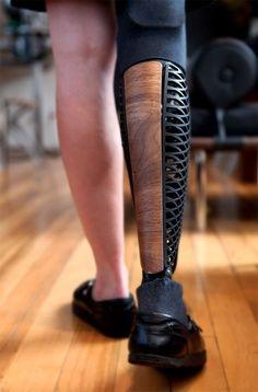 "Industrial designer Scott Summit makes beautiful prosthetics | best from pinterest.. Daddy's ""wooden leg"" never looked so good"