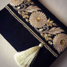Felt Tassel And Emblished Lace Clutch Handmade Handbags, Handmade Bags, Couture Main, Party Wear For Women, Boho Bags, Fabric Bags, Little Bag, Beautiful Bags, Clutch Purse