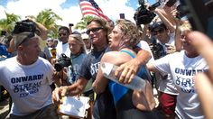 Diana Nyad: 'We Should Never Ever Give Up' after 53 hours and swimming 110 miles, she swam from Cuba to Key West. #amazing #hero