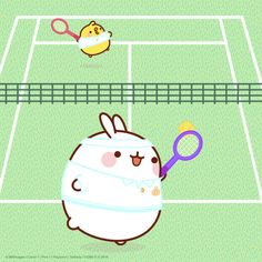Tennis with Molang