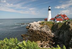 maine. and lighthouses.