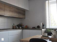 Metamorfoza domu jednorodzinnego,Wysoka-Zawiercie - Średnia otwarta zamknięta kuchnia w kształcie litery l, styl skandynawski - zdjęcie od Architekt wnętrz Klaudia Pniak