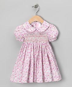 Purple French Floral Smocked Dress - Infant, Toddler & Girls