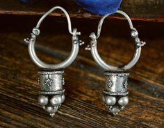 Antique Afghan Tribal Hoop Earrings with Dotwork by CosmicNorbu