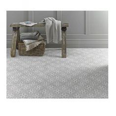 Laura Ashley Mr Jones Dove Grey is a white body ceramic floor tile with a matt finish. PEI 4.