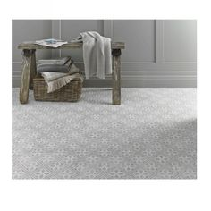 Laura Ashley Mr Jones Dove Grey is a white body ceramic floor tile with a matt finish. PEI 4.