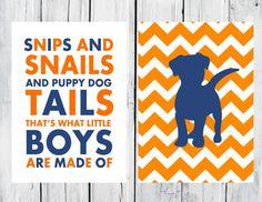 Puppy Dog Nursery   2 Print Set  Boy's Nursery by TheEducatedOwl, $12.00