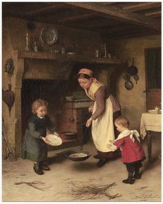 """On February 2 the French celebrate Candlemas, Fête de la Chandeleur, Fête de la Lumière, or """"jour des crêpes"""".  On that day, while making galettes or crêpes, The Breton tradition is that you hold a coin in your writing hand and a crêpe pan in the other, and flip the crêpe into the air. If you manage to catch the crêpe in the pan, your family will be prosperous for the rest of the year. Great news!"""