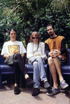 Dave Grohl, Kurt Cobain and Krist Novoselic #Nirvana