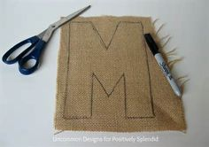 Burlap Covered Letters - Step by Step Instructions | Burlap, Craft ...