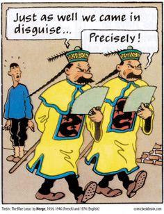 Tintin and the Blue Lotus • the Thompson Twins • Tintin, Herge j'aime