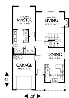 Turn garage area into extra bedroom and bath..on current duplex foot print...have LR as the front of house.