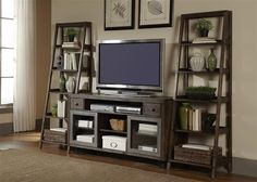 Get a modern industrial look with these entertainment pieces. The Avignon collection from Liberty Furniture.