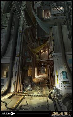 ArtStation - Deus Ex: Mankind Divided / Ghetto Prague / Part2 , Herve Groussin…