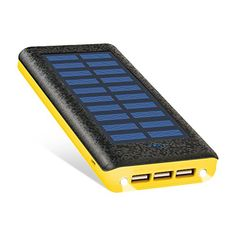 Solar charger Ruipu Portable Solar Power Bank With 3 USB Port External Battery Pack Phone Charger With 2 Flashlight and USB Fan For iPhone iPad Samsung HTC Cellphones Tablet And More-Yellow Solar Phone Chargers, Solar Charger, Portable Charger, Solar Power Batteries, Portable Solar Power, Flashlight, Cell Phone Accessories, Usb, Ipad