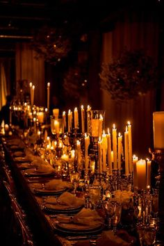 candles dining